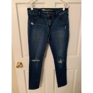 Old Navy Rockstar mid-rise skinny jeans, size 14
